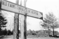 Avon Old Farms Convalescent Hospital -- U.S. Army sign