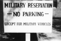 Avon Old Farms Convalescent Hospital -- Military Reservation sign