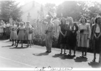 Avon Old Farms Convalescent Hospital -- Captain Jameson watching parade