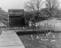 Countryside Park - dock and swimmers