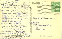 Postcard to Mrs. E. A. Brewer