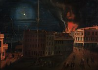 Union House Fire on Bank Street, New London, Nov. 8, 1854