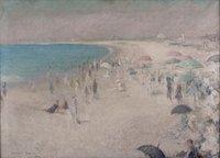 Beach Scene at Watch Hill, 1914