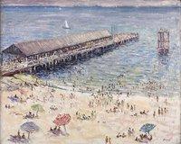 Old Ocean Beach Pier and Dolphin