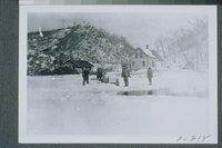 Cutting Ice Near Railroad Station, Bolton