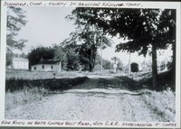 White Church West Road At Central New England Railway Grade Crossing, Looking North, Bloomfield
