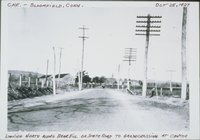 Central New England Railway, Looking North Along Bear Hill Or State Road To Grade Crossing, Bloomfield