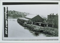 Freight Pier, With Script Heralded Wood Sheathed Box Cars, Norwich