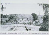Elm Street Grade Crossing, Central New England Railway, Looking East, Canaan