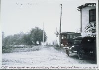 Central New England Railroad Grade Crossing At Gra-rock Plant, Looking South, Canton