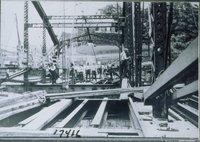 Construction Of Railroad Bridge, Norwich