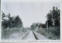 Central New England Railroad, Looking East To Sisson's Grade Crossing, Canton