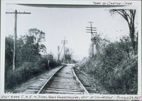 Central New England Railroad At School House Grade Crossing, West, Collinsville