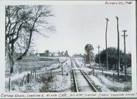 Central New England Railway, Looking East To Tobies Crossing In The Vicinity Of Station, Cottage Grove