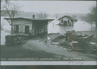Railroad Yard And Station, Deep River, Flood Of 1936