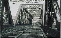Damaged Derby-shelton Railroad Bridge, Looking East