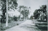 Elm Street, Looking North To Central New England Railway Tracks And Canaan, North Canaan