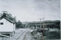 Central New England Railway Milk Station, Whiting River And Canaan Valley Grade Crossing, From West, North Canaan