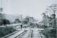 Gildersleeve Avenue Grade Crossing, From East, Collinsville (trainman Stands On West Leg Of Collinsville Wye-river Road)