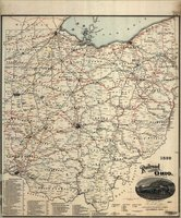 1899 Railroad map of Ohio