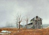Cromwell Barn in Mist