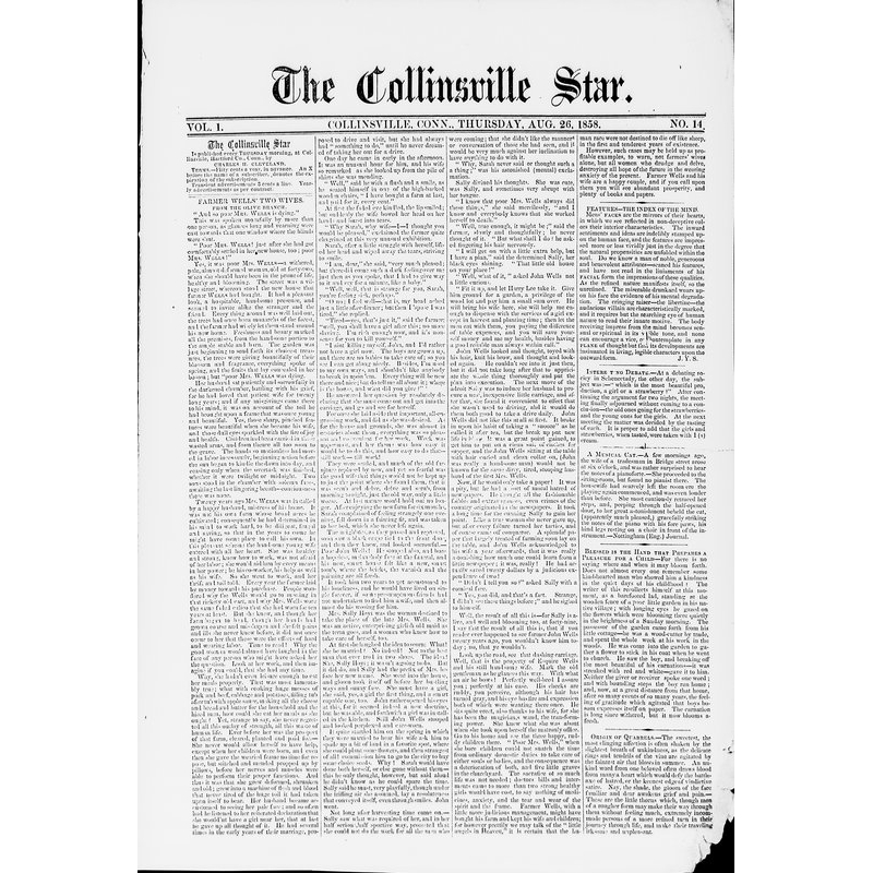 Collinsville star, 1858-1860