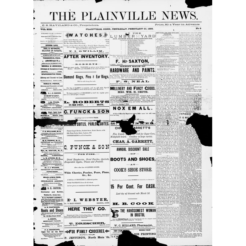 Plainville news, 1889-1907