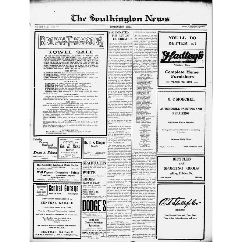Southington news, 1911-1940