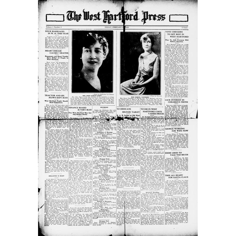 West Hartford press, 1929