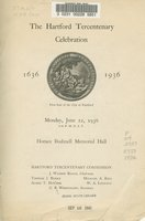 Hartford Tercentenary celebration, 1636-1936