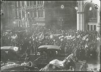 Armistice celebration, Main Street and Asylum Street