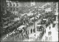 Armistice celebration, Main Street and Pearl Street