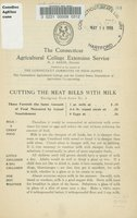 Cutting the meat bills with milk
