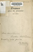 France after the armistice