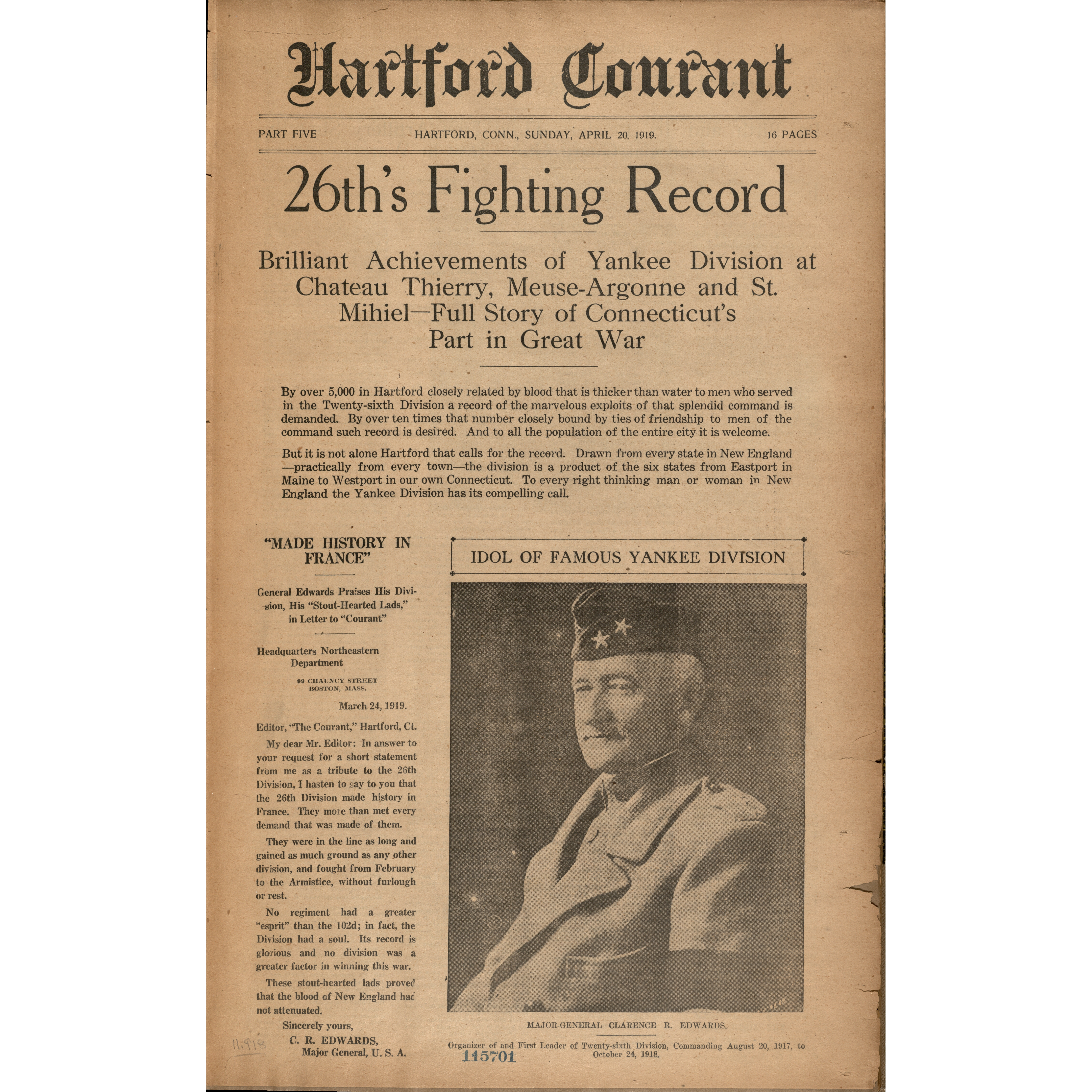 26th's fighting record