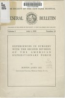Experiences in surgery with the Second Division of the American Expeditionary Force