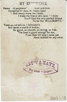 Willimantic Linen Company Trade Card (2013.1.13 b)