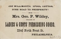 Willimantic Linen Company Trade Card (2013.1.20 b)