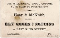 Willimantic Linen Company Trade Card (2013.1.23 b)