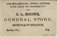 Willimantic Linen Company Trade Card (2013.1.24 b)
