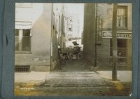 Alley beside 205-207 Front Street, looking East, Hartford, September 8, 1908