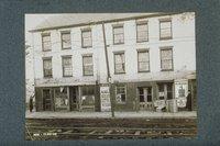 Abandoned storefronts in the Pallotti block, 77-75 Morgan Street, Hartford