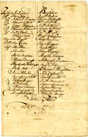 French and Indian War Collection: Rolls of enlisted and Impressed Men, 1758 (Box 1 Folder 8)