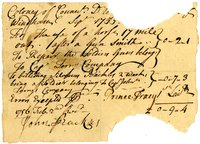 French and Indian War Collection: Accounts and receipts, 1756-1757 (Box 2, Folder 3)
