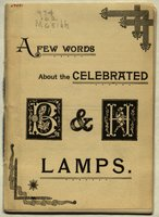 Few Words about the celebrated B & H lamps (Bradley & Hubbard)