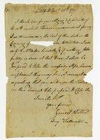 Benjamin Tallmadge letter to Reuben H. Booth
