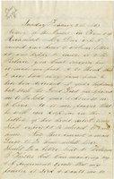 Letter of Joseph Cross 1865 February 05