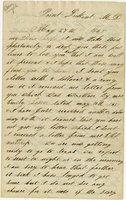 Letter of Joseph Cross 1865 May 27