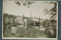 Warren Woolen Company: old and new mills, Stafford Springs
