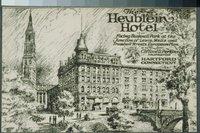 Artist's rendering of the Heublein Hotel, 180 Wells Street, Hartford